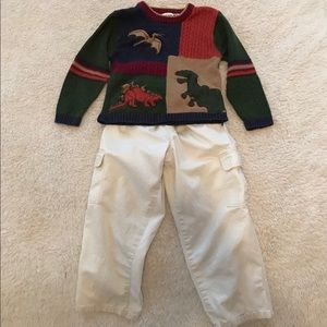 Other - Dinosaur Sweater & Wes & Willy Cargo Pants Bundle